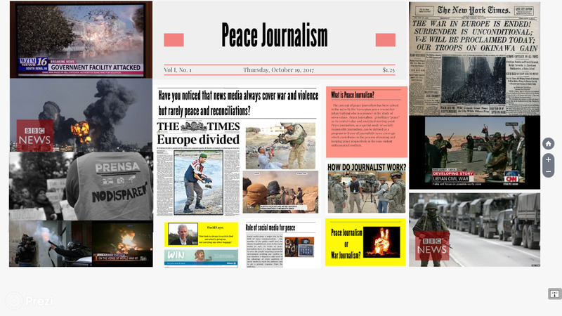 <p>Peace Journalism : portafolio on peace journalism for the subject of English II</p>