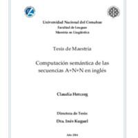 Computación semántica de las secuencias A+N+N en inglés