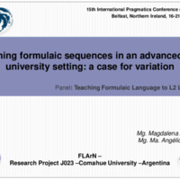 Teaching formulaic sequences in an advanced EFL university setting: a case for variation