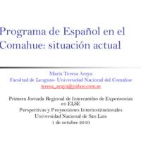 Araya_Programa de Español en el Comahue.pdf