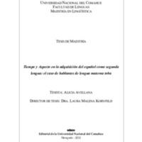 Tiempo y aspecto en la adquisición del español como segunda lengua : el caso de hablantes de lengua materna toba