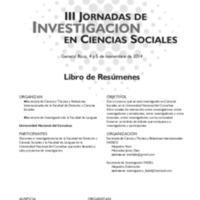 III Jornadas de Investigación en Ciencias Sociales : libro de resúmenes